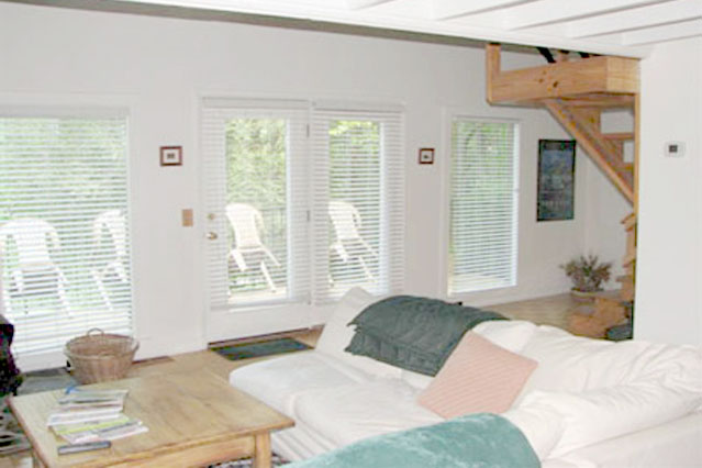 Great room with large windows. Bright and sunny.
